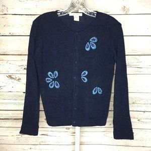 Free People button front lambs wool cardigan M